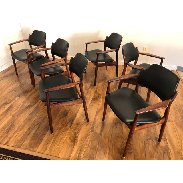1960s Rosewood Chairs by Arne Vodder for Sibast Furniture, Made in Denmark, Set of 6 For Sale - Image 5 of 13