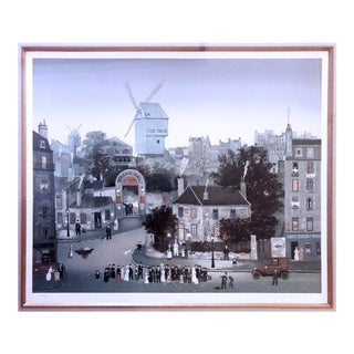 "Michel Delacroix Lithograph ""Mariage a Montmartre"" Limited Edition Hand Signed For Sale"