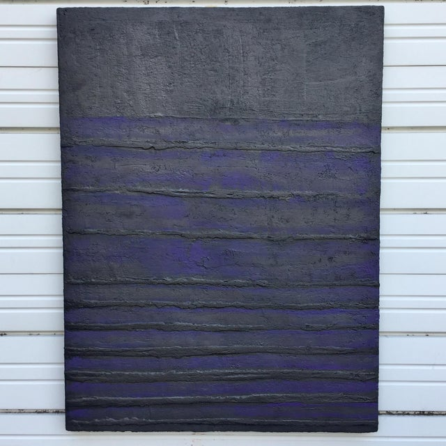 1980's Textured Abstract Painting For Sale - Image 10 of 10