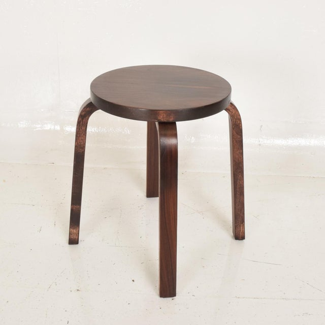 "For your consideration, a Rare Rosewood Stool by Alvar Aalto for ARTEK Dimensions: 13 3/4"" Diameter x 19"" tall"