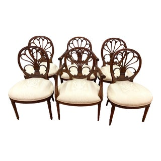 Hepplewhite Style Dining Chairs Set of 6 For Sale