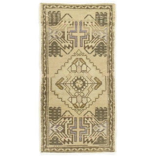 "Turkish Yastik Hand Knotted Wool Rug - 1'8"" x 3'2"""