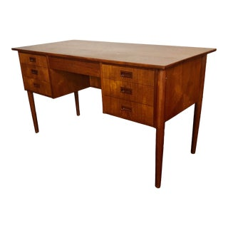 1970s Danish Teak Writing Desk For Sale
