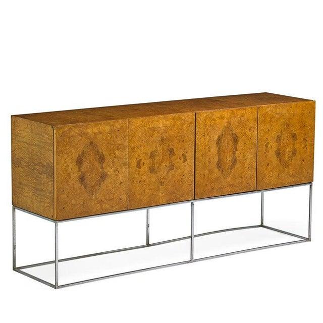 Milo Baughman for Thayer Coggin Milo Baughman for Thayer Coggin Burl Cabinet For Sale - Image 4 of 4