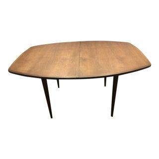 Vintage Mid Century Oiled Walnut Dining Room Table For Sale