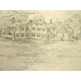 """Marshfield"" Graphite Drawing For Sale"