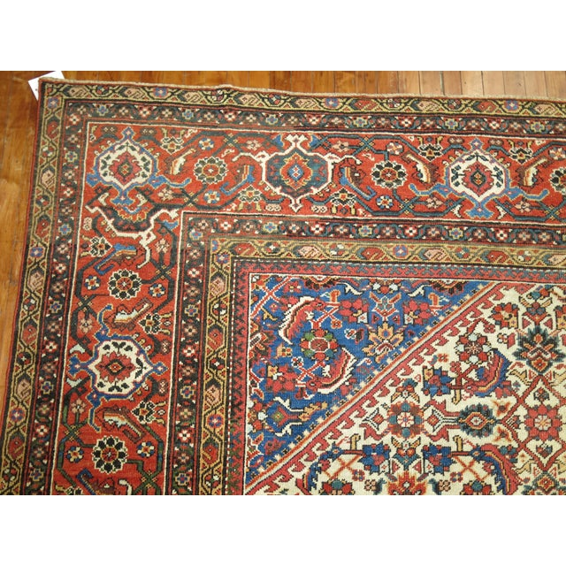 Mid-Century Modern Mahal Sultanabad Rug. 10'8'' X 14'2''. For Sale - Image 3 of 9