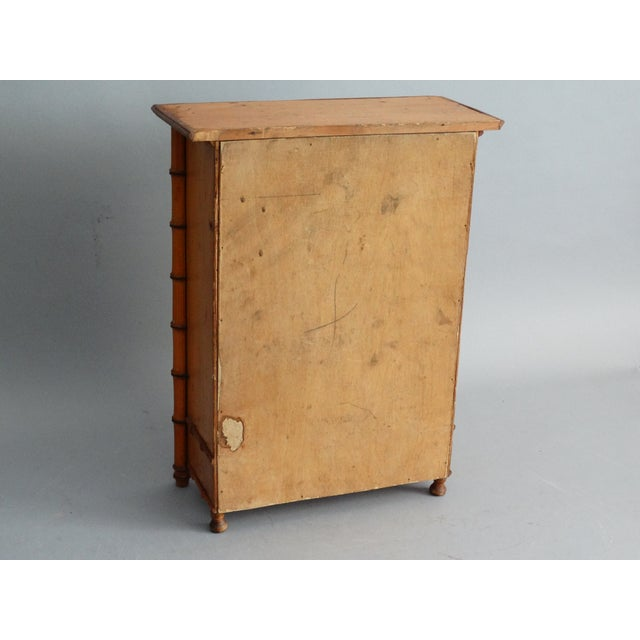 1960s Diminutive Faux Bamboo Armoire For Sale - Image 5 of 8