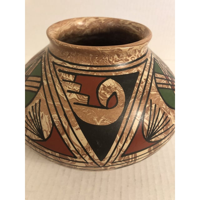 1990s Mata Ortiz Polychrome Pottery Jar For Sale - Image 4 of 9
