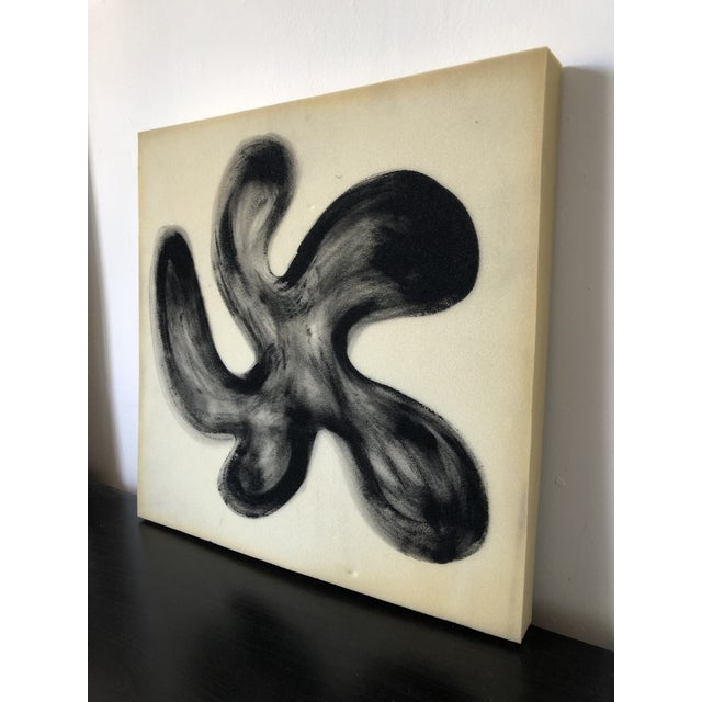Abstract Airbrush Flower on Selvaged Foam Abstract Art For Sale - Image 3 of 8