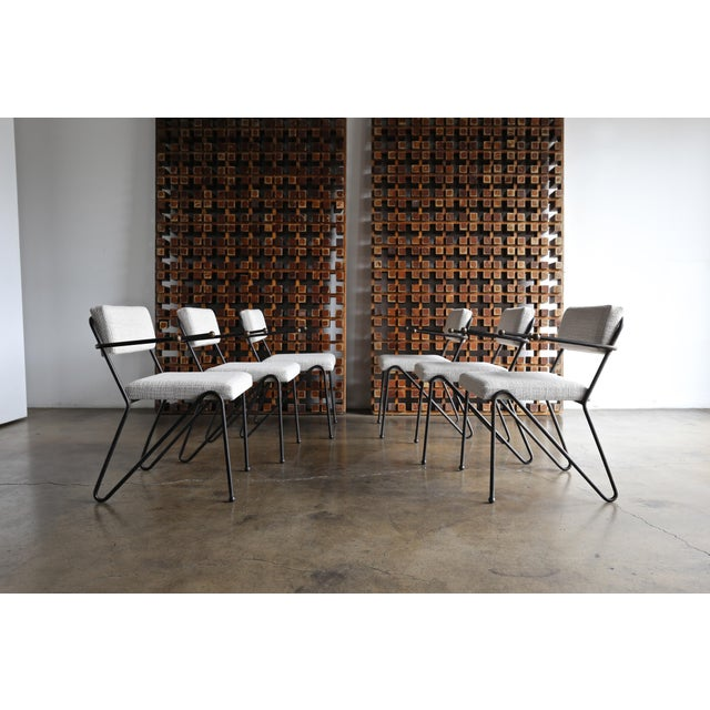 Mid-Century Modern 1950 George Kasparian Dining Chairs - Set of 6 For Sale - Image 3 of 13