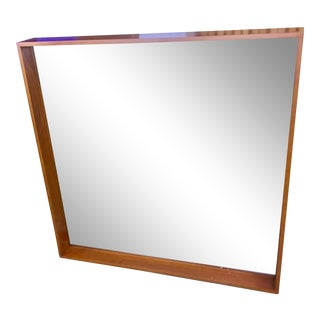 Deep Window Box Maple Framed Mirror