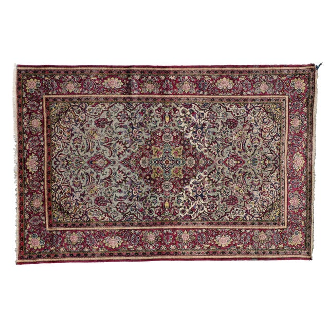 Late 19th-Century Antique Silk Persian Kashan with Jewel-Tone Colors For Sale - Image 10 of 10