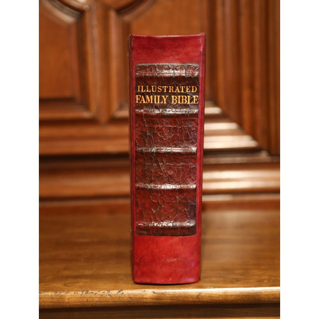 This beautiful antique Bible was printed in Sweden and distributed by Gothic Press Incorporated in New York. Printed circa...