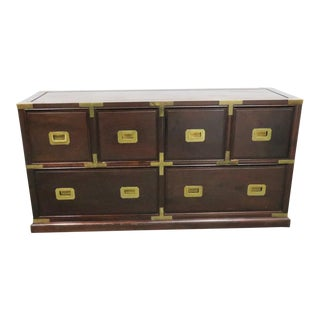 Chinese Campaign Rosewood Apothecary Chest For Sale