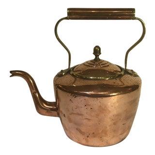 19th Century English Copper Tea Pot For Sale