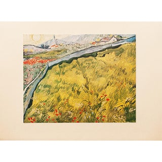 "1950s Van Gogh, First Edition Lithograph ""The Wheat Field"" For Sale"