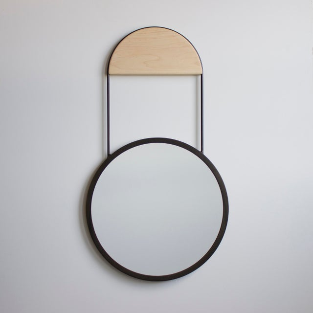 Not Yet Made - Made To Order 20in Penny Hanging Mirror For Sale - Image 5 of 8