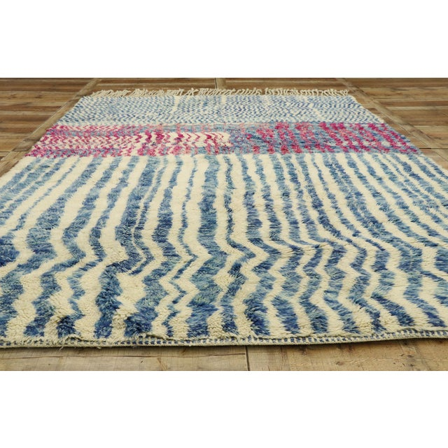 """Textile Contemporary Berber Moroccan Rug - 7'4"""" X 9'7"""" For Sale - Image 7 of 9"""