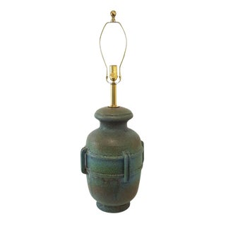 1960s Vintage Alvino Bagni Studio Pottery Urn Lamp For Sale