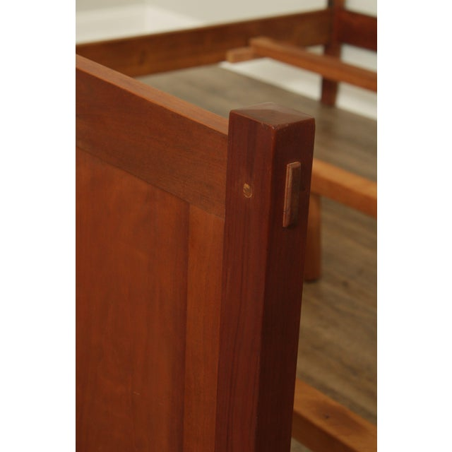 Brown Stickley Mission Collection King Size Cherry Panel Bed For Sale - Image 8 of 12