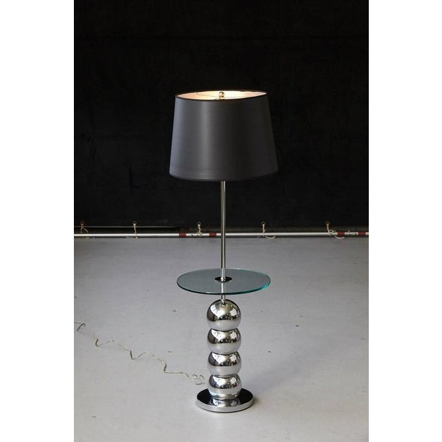 Luxury george kovacs stacked chrome ball floor lamp with george kovacs stacked chrome ball floor lamp with integrated glass table image 3 of 7 aloadofball Image collections