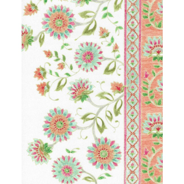 Not Yet Made - Made To Order Ferran Indianas Fabric, Sample, Papaya in French Cotton Twill For Sale - Image 5 of 5