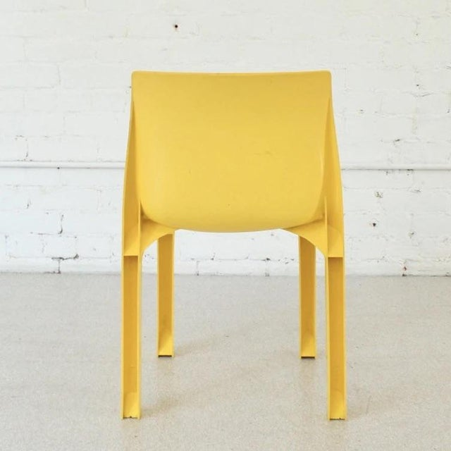 Vintage Yellow Atomic Mod Chair For Sale - Image 4 of 8