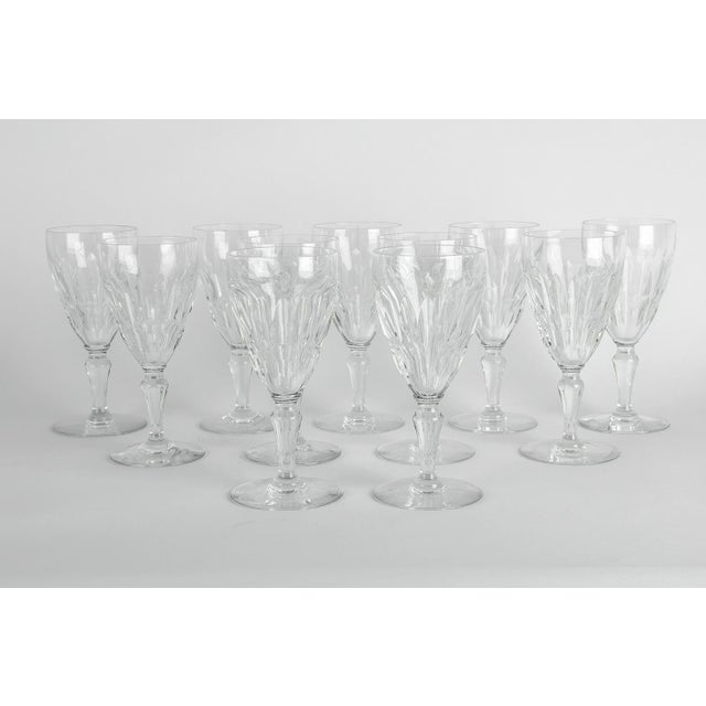 Mid-Century Modern Mid Century Baccarat Crystal Glasses - Set of 12 For Sale - Image 3 of 5