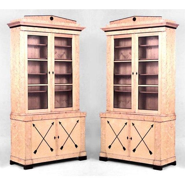 Biedermeier Pair of Swedish Biedermeier Bookcase Cabinets For Sale - Image 3 of 3