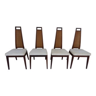 Mid-Century Modern Exaggerated Back Sculptural Dining Chairs - Set of 4 For Sale