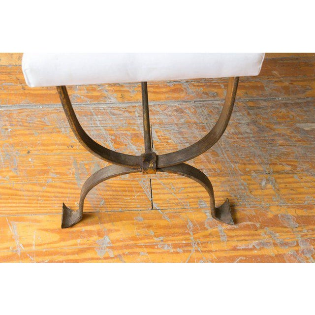 Gilt Iron Bench with Double Inverted U Frame - Image 3 of 8