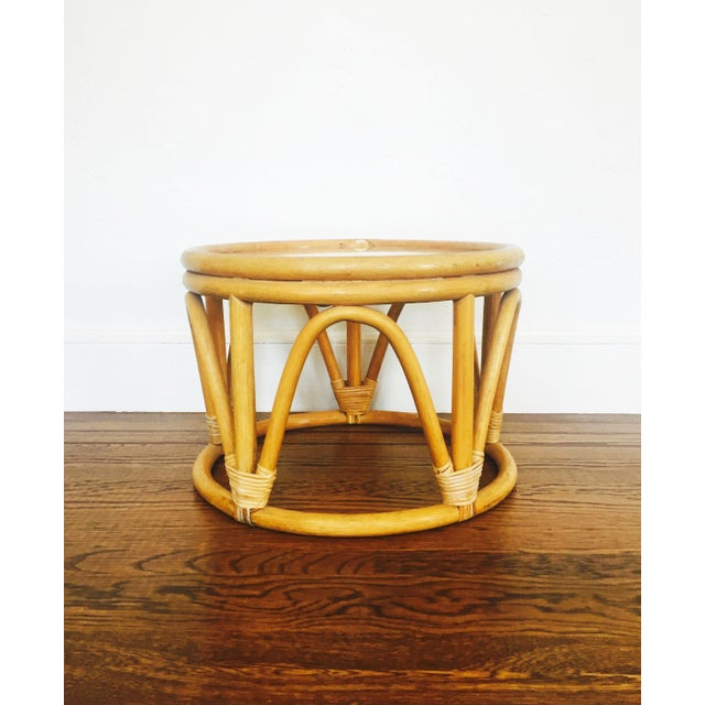 Vintage Bent Bamboo Side Table - Image 2 of 6