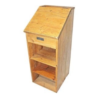 19th Century Country Pine Lectern Hostess Stand For Sale