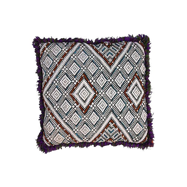 Moroccan Berber Sham with Blue Diamonds - Image 1 of 2