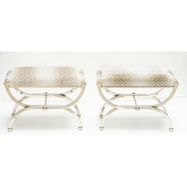 Mid 20th Century 20st C. Charles Hollis Jones Benches For Sale - Image 5 of 5