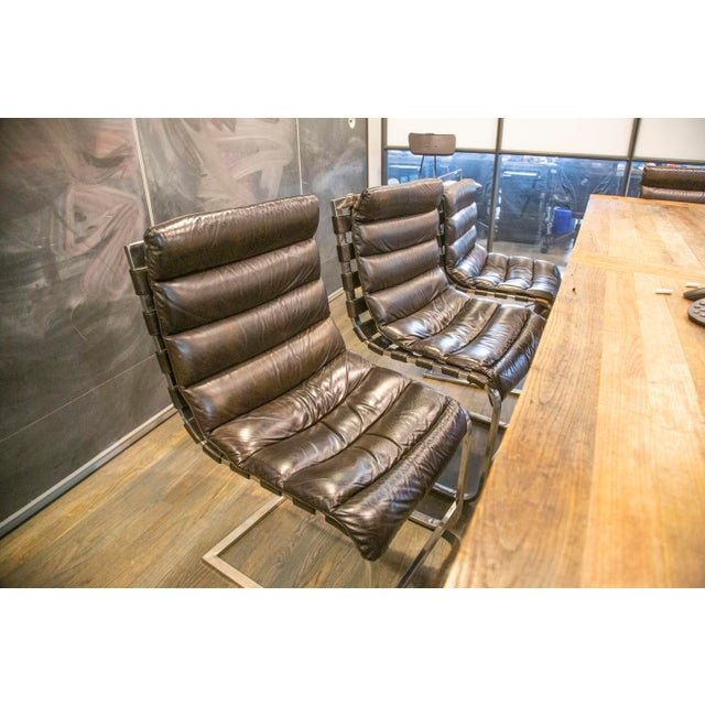 2010s Modern Oviedo Leather Side Chair For Sale - Image 5 of 6