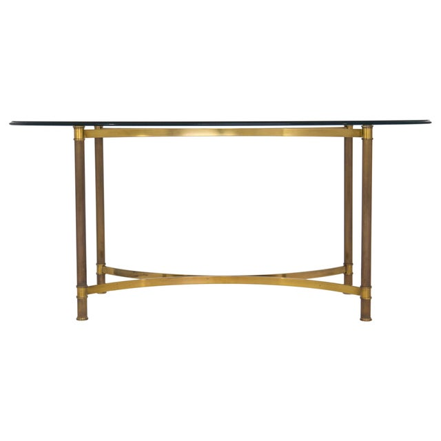 Oval Brass & Glass Dining Table - Image 9 of 9