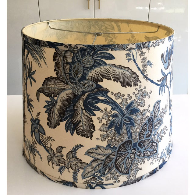Designer Blue Tropical Toile Lamp Shade - Image 4 of 8