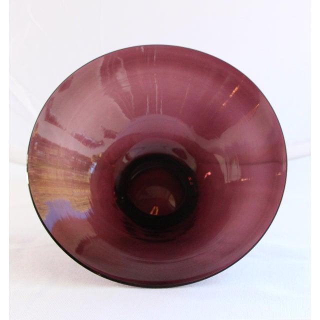 Wide Rim Pedestal Bowl by Blenko - Image 4 of 4