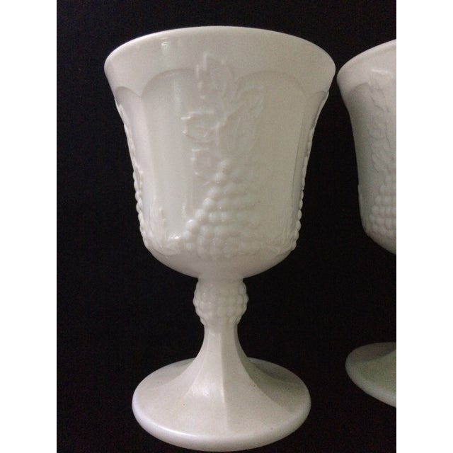 Vintage White Porcelain Goblets - A Pair - Image 3 of 5