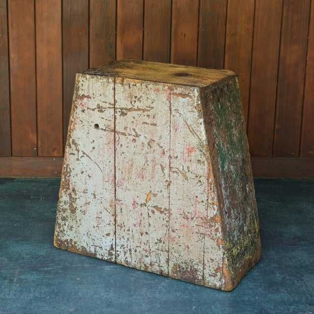 Industrial Primitive Industrial American Factory Craft Trapezoidal Crane Operators Cabinet For Sale - Image 3 of 10