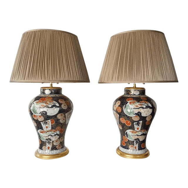 Samson Imari Lamps, Mallett London - a Pair For Sale