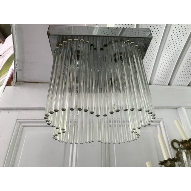 Vintage chrome glass rod chandelier sciolari chairish vintage chrome glass rod chandelier sciolari image 2 audiocablefo