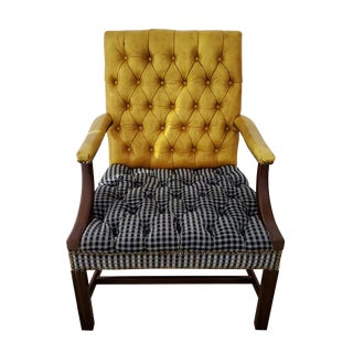 1960's Hickory Chair Furniture Co Chesterfield Armchair For Sale
