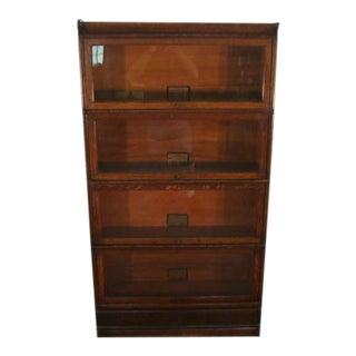 Globe Wernicke Oak Bookcase For Sale