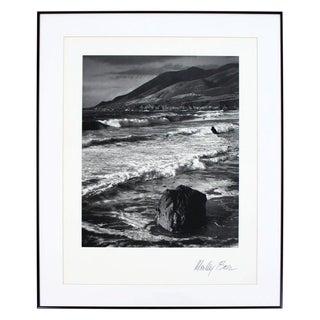 "Mid-Century Modern ""Winter Surf Garrapata"" Framed Photo Signed Morley Baer, 1966 For Sale"