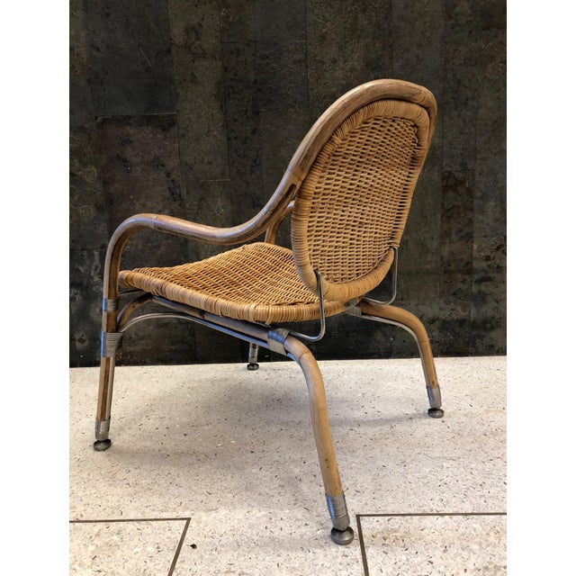 1990s Pair Mats Theselius Cane Chairs For Sale - Image 5 of 8