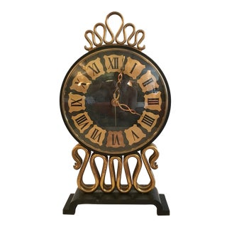 Mid-Century Bulova Table Clock For Sale