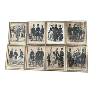 Collection of Le Lion Supplement to l'Elegant Prints 1848-1856 - Set of 8 For Sale